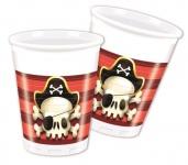 8 Becher Piraten Jolly Roger Totenkopf