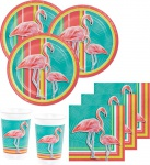 32 Teile Flamingo Island Party Deko Set Sommer Party 8 Personen