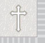 18 kleine Servietten Kreuz