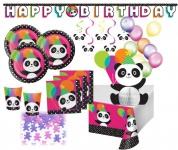 XXL 51 Teile Pink Panda Bär Party Deko Set für 8 Personen