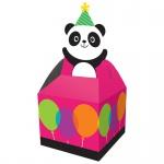 8 Geschenk Boxen aus Karton Pink Panda Bär
