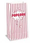 100 Popcorn Papier Tüten rot weiß gestreift 25 x 13 cm