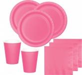 36 Teile Party Deko Set Bonbon Rosa für 8 Personen