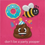 16 Servietten Emoticons don't be a Party Pooper