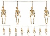 Skelett Girlande 1, 5 Meter