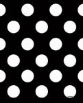 8 Partytüten schwarze Punkte