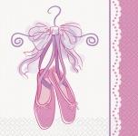 16 kleine Servietten Pink Ballerina