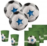32 Teile Fußball Halbzeit Party Deko Set für 8 Personen