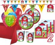 XXL 67 Teile 2. Geburtstag Bauernhof Party Set 16 Personen