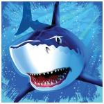 16 Haifisch Party Servietten