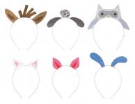 6 Haarreifen mit Bauernhof Tier Ohren