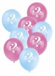 8 Luftballons Babyparty Junge oder Mädchen?
