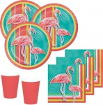 48 Teile Flamingo Island Party Deko Set Sommer Party 16 Personen