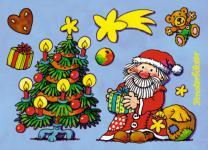 Fensterbild Postkarte Weihnachten