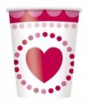 8 Pappbecher Herzchen zum Valentins Tag