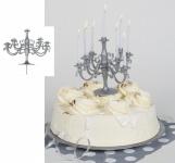 Mini Kerzenständer für Kuchen in Silber