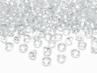 30g kleine Deko Plastik Diamanten klar - 12 mm Durchmesser - etwa 100 Stk.