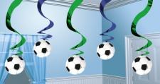 5 hängende Girlanden Fußball