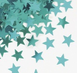 Sterne Konfetti Karibik Blau