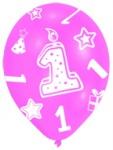 Geburtstags Zahlen Ballons 1 rosa