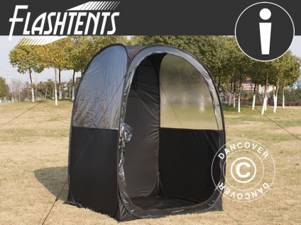 Zuschauer-Faltzelt Faltpavillon Wasserdicht, FlashTents®, 1 Person, Schwarz