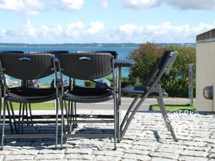 Partypaket, 1 Klapptisch im Rattan-Look PRO (182cm) + 8 Stühle im Rattan-Look, schwarz - Vorschau 5