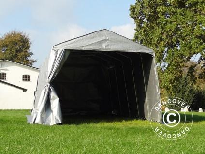 Zeltgarage Lagerzelt Garagenzelt Basic 3, 3x4, 8x2, 4m PE, grau - Vorschau 5