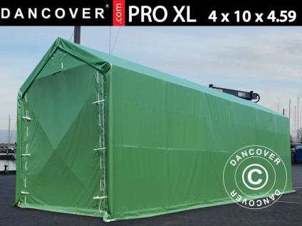 Lagerzelt PRO XL Bootszelt Zeltgarage Garagenzelt PRO XL 4x10x3, 5x4, 59m, PVC, Grün