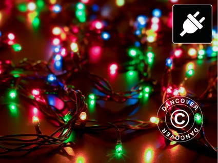 Lichterkette LED, 25m, Mehrfachfunktion, Mehrfarbige, Grünes Kabel