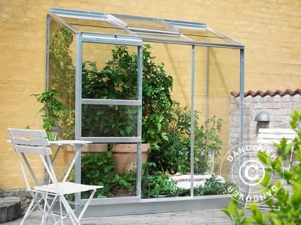 Anbaugewächshaus Glas Halls Altan, 1, 33m², 0, 69x1, 94x1, 82m, Aluminium