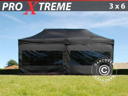 Faltzelt FleXtents Xtreme 3x6m Schwarz, mit 6 Wänden
