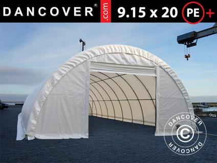 Rundbogenhalle Lagerzelt 9, 15x20x4, 5m, PE, weiß