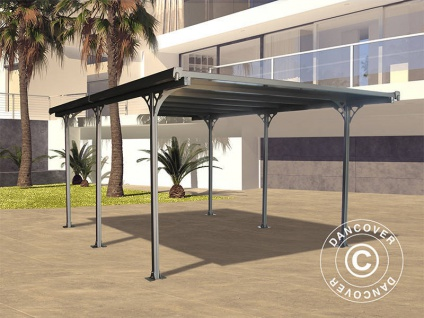 Carport Boston, 3, 13x5, 02m, Dunkelgrau