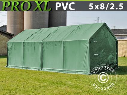 Lagerzelt Zeltgarage Garagenzelt PRO 5x8x2, 5x3, 3m, PVC, Grün