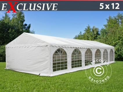 Partyzelt festzelt Exclusive 5x12m PVC, Weiß