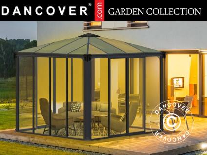 Orangerie/Pavillon LEDRO, 8, 7m², 2, 95x2, 95x2, 76m, Grau