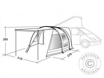 Camping-Vorzelt Easy Camp, Shamrock, Grau - Vorschau 3