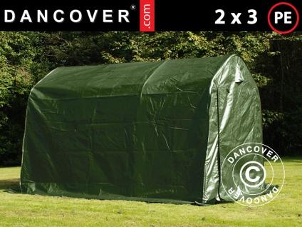 Lagerzelt Zeltgarage Garagenzelt PRO 2x3x2m PE, Grün