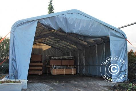 Zeltgarage Garagenzelt PRO 6x12x3, 7m PVC, Grau - Vorschau 5