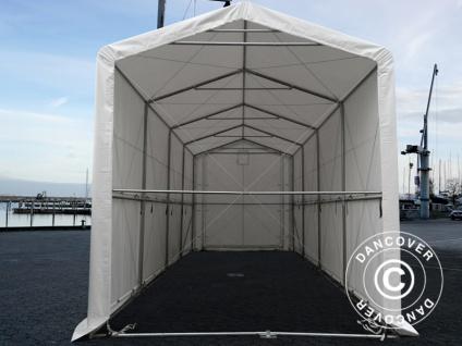 BootszeltZeltgarage Garagenzelt PRO XL 3, 5x8x3, 3x3, 94m, PVC, Weiß - Vorschau 4