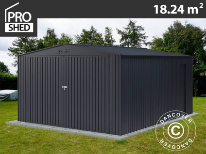 Metallgarage 3, 8x4, 8x2, 32m ProShed, Anthrazit