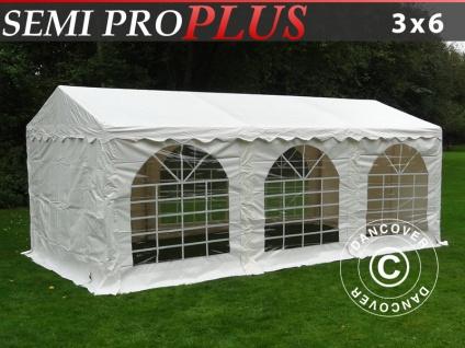 Partyzelt festzelt SEMI PRO Plus 3x6m PVC, Weiß