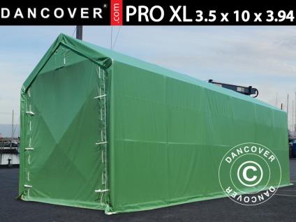 Lagerzelt PRO XL Bootszelt Zeltgarage Garagenzelt PRO XL 3, 5x10x3, 3x3, 94m, PVC, Grün