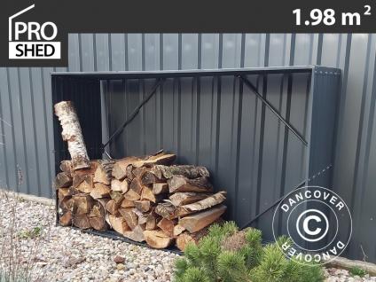 Holzlager/erhöhtes Pflanzbeet 1, 1x0, 5x1, 8m ProShed®, Anthrazit