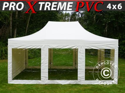 Faltzelt FleXtents Xtreme Heavy Duty 4x6m Weiß, mit 8 Wänden