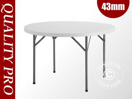 Runder Bankett-Tisch PRO Ø116 cm, hellgrau (1 St.)