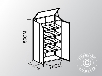Mini-Gewächshaus Polycarbonat 0, 29m², 0, 76x0, 385x1, 5m, Aluminium - Vorschau 4