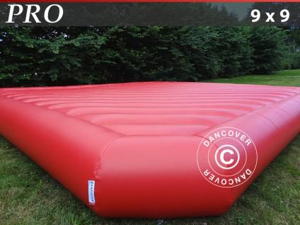 Hüpfkissen 9x9m, Rot, Beständige Mietqualität