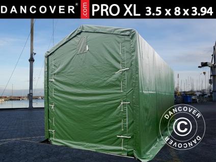 Lagerzelt PRO XL Bootszelt Zeltgarage Garagenzelt PRO XL 3, 5x8x3, 3x3, 94m, PVC, Grün