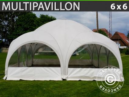 Kuppelzelt Multipavillon 6x6m, Weiß